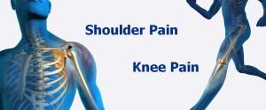 shoulder pain, knee pain