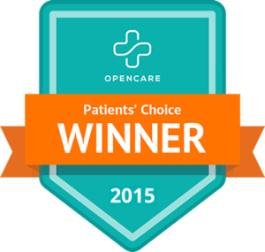 2015 Patients' Choice Award from OpenCare