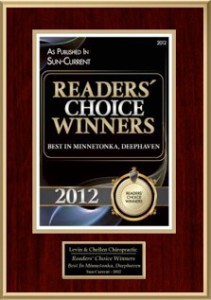 Readers' Choice Awards Best Doctors, Best Chiropractic Clinic 2012