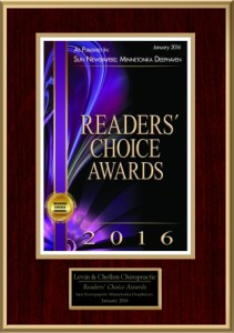 2016 readers' choice award: Best Chiropractor